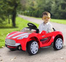 Homcom – Macchinina Elettrica per Bambini Sportiva con MP3, 119×71×54cm, Rosso
