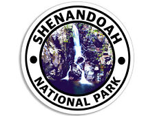 4x4 inch ROUND Shenandoah National Park Sticker - decal virginia rv travel hike