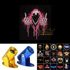 Motorcycle Pink Middle Finger Skull Logo Ghost Shadow Laser Projector LED Light