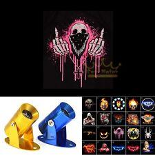 Motorcycle Pink Middle Finger Skull Logo Ghost Shadow Laser Projector LED Light