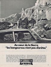 PUBLICITE ADVERTISING 094 1967 AUTOVOX auto-radio