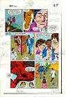 Original 1983 Iron Man 177 Marvel color guide comic book production art page 27