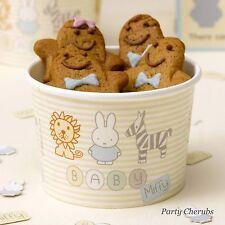 Treat/Ice Cream Tubs x 8 - BABY MiFFY - 1st Birthday/Baby Shower/Christening