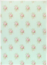 Printed Translucent/Vellum Scrapbook  Paper A/4 Country Shabby Roses