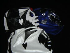LOT 3 ADULT MIL MASCARAS BLACK-BLUE-WHITE mexican wrestling mask adulto free