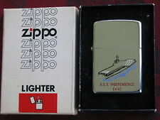 Zippo Lighter 1981 USS Independence CV 62 Double Sided MIB