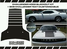 Dodge Challenger Hood Strobe T-Stripe Decal Kit 2008-2014 Options Colors Racing