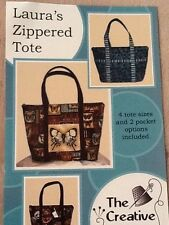 Laura's Zippered Tote purse sewing pattern by The Creative Thimble popular bag