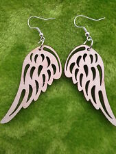 Wooden earrings kit natural plain wood for craft decoupage laser cut wings shape