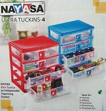 Nayasa Plastic Blue 4 Tier Drawers With Multipurpose use