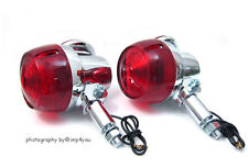 2x Rear Turn Signal Indicatosr for Suzuki GT380 GT550 GT750 RE5 72-77 Red lens