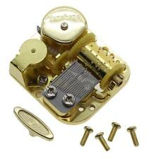 1Set Mechanical DIY Gold Plated Wind Up Music Box Movement +Screws+Knob Laputa