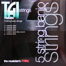TGI 5 STRING BLUEGRASS G BANJO STRINGS -  LIGHT GAUGE