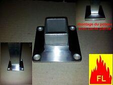Platine sol / mur  TUBE CARRE 40 x 40 EP 2 MM  inox 304l   balcon rembarde