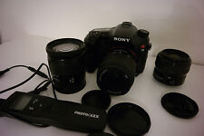 Sony SLT A77VQ 24.3Mp. Noir + Kit (18-70 / 28-80 / 35-80 mm.)