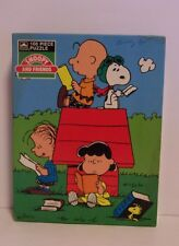 Snoopy Charlie Puzzle Books Doghouse Linus Lucy Peanuts Woodstock Golden 100 Pc