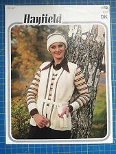 Hayfield DONNA SWEATER, Senza Maniche Giacca Cappello & knitting pattern 1153
