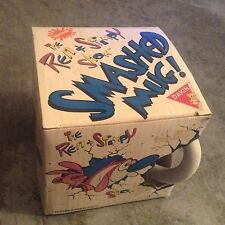 Dakin Nickelodeon 1992 REN & STIMPY SHOW SMASHED MUG Coffee Cup - NEW IN BOX