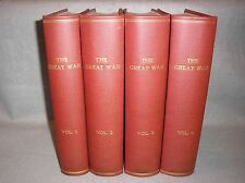 1915-19 The Great War World War I WWI Allen 4v Illustrated History Books w/Maps