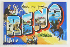 Greetings from Reno FRIDGE MAGNET nevada travel souvenir