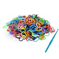 600 pcs Loom Bands Bandz Rainbow MIX Colour Rubber Refill DIY Make Bracelet Set