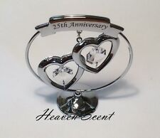 25th Silver Wedding Anniversary Gift Ideas with Swarovski Crystals SP248