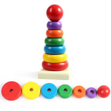 Baby Kids Stacking Ring Toy Rainbow Tower Tumbler Stack Up Educational Toys