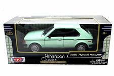 MotorMax 1985 PLYMOUTH HORIZONT LITE GREEN 1/24 Diecast cars