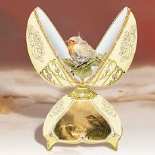 Jewel of Nature Egg with Robin Bird Music Box - Bradford Exchange