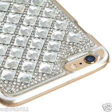 "iPhone 6 Plus (5.5"") Snap Fit Back Cover 3D Bling Gem Case Silver Diamond"