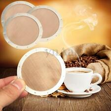 NEW Ultra Fine Stainless Steel Metal Coffee Filter Reusable Mesh For AeroPress