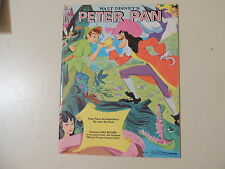 DISNEY - PETER PAN - W/RECORD - ORIGINAL & MINT '60s SHEET MUSIC BOOK- 32 pages