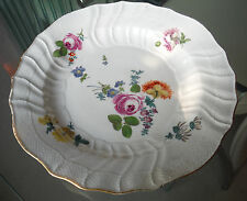 EARLY 1800s MEISSEN STYLE PLATE-FLORAL DECORATION-CROSSED SWORDS MARK
