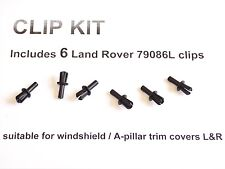 6 NEW A PILLAR TRIM CLIPS 1999 to 2004 Land Rover Discovery Windshield 79086L