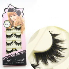 Makeup Handgemachte Lang Extension falsche Wimpern False Eyelashes 5 Paar DODE