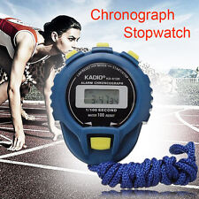 LCD Chronograph Digital Sport Timer Stopwatch Counter Odometer Alarm Watch N1