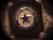 VINTAGE 14K WHITE GOLD AMERICAN LEGION AUXILIARY RING SIZE 4 1/2