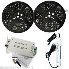 10M SMD RGB 5050 Waterproof Strip light 600 LED + Wireless Remote + 12V Power