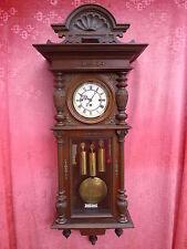 schöner,alter Regulator__mit Pendel und 3 Gewichten__Wiener Regulator__126cm