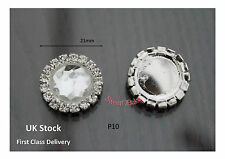 50 DIAMANTE CRYSTAL STICK ON EMBELLISHMENT/WEDDING INVITES BUTTON DIY CRAFT P10