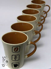 6er Set BECHER Tassen Teetassen Kaffeebecher Kaffeebohnen Keramik Geschenke