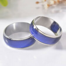 1PC change color rings  temperature ring mood rings Size 10