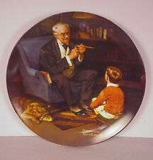 Norman Rockwell Collector Plate ; 1982  The Tycoon  w/  Free shipping