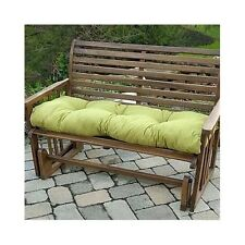 "2 Bench Swing Glider Cushions Tufted Thick Padding Outdoor Patio Porch 51"" Green"