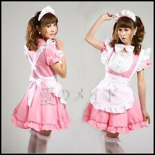 Japanese Maid Uniform Costume Lolita Pink  Dress for Halloween/Cosplay Party