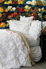 ANTHROPOLOGIE GEORGINA WHITE QUEEN DUVET COVER *BRAND NEW IN PACKAGE*