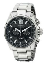 Citizens Shadowhawk Eco-Drive Chronograph Black Dial Stainless Steel Men's Watch