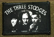 3 Stooges  Morale Patch Moe Larry Curly Funny Tactical Milspec Molle
