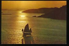 Hong Kong, China, Aberdeen - Sunset & Homing Boat (unused 4x6 POST CARD(JA995