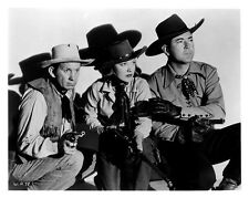 Fuzzy Knight, Nell O'Day and Johnny Mack Brown: 10x8 In. B&W Glossy Photo